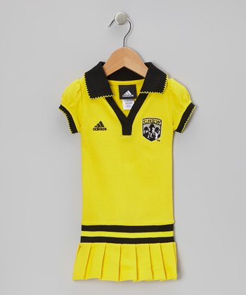 Gold Columbus Crew Polo Dress - Toddler & Girls