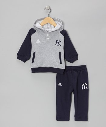 Gray Yankees Hoodie & Navy Pants - Infant