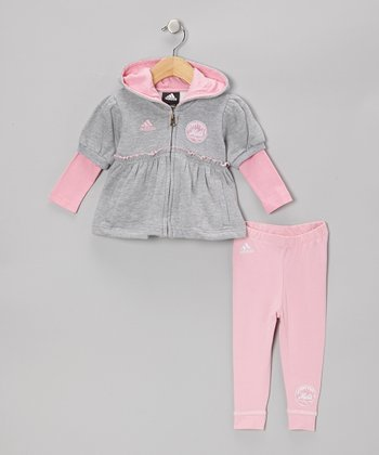 Gray Mets Zip-Up Hoodie & Pink Leggings - Infant & Toddler