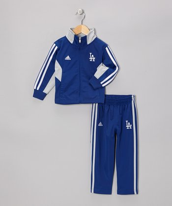 Blue Dodgers Track Jacket & Pants - Toddler