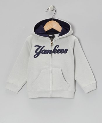Gray Yankees Zip-Up Hoodie - Toddler