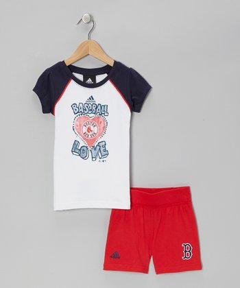 Red Sox Raglan Tee & Red Shorts - Toddler & Kids