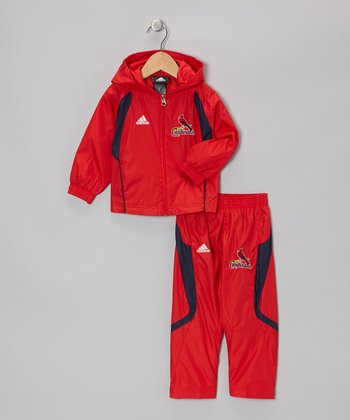 Red Cardinals Hooded Jacket & Pants - Infant