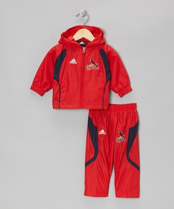 Red Cardinals Track Jacket & Pants - Toddler