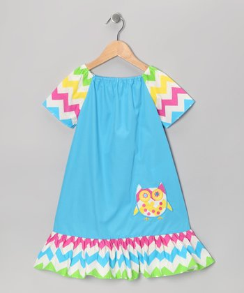 Blue Rainbow Zigzag Dress - Infant & Toddler