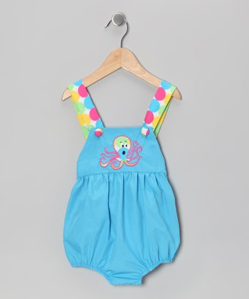 Blue Octopus Sunsuit - Infant