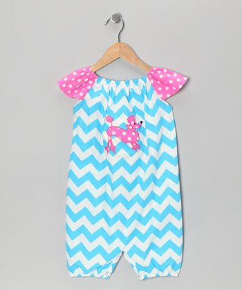 Blue & Pink Zigzag Poodle Romper - Infant & Toddler