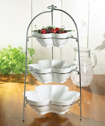 Three-Tier Flower Bowl Set