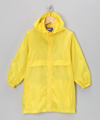 Lemonade Yellow Packable Raincoat