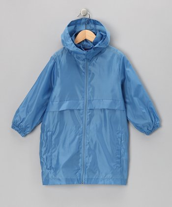 Royal Blue Packable Raincoat