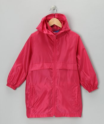 Hot Pink Packable Raincoat