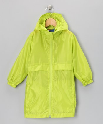 Lime Green Packable Raincoat