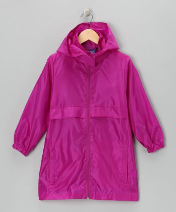 Pretty Purple Packable Raincoat