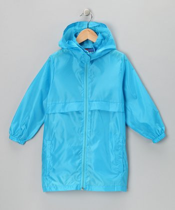 Sky Blue Packable Raincoat