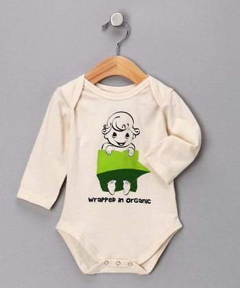 Natural 'Wrapped in Organic' Long-Sleeve Bodysuit - Infant