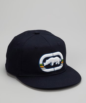 Navy Rhino Fitted Baseball Cap