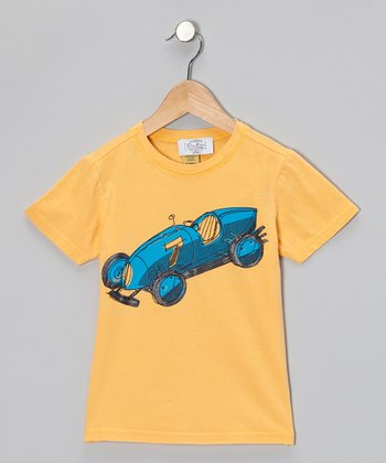 Gold Race Car Tee - Toddler & Kids