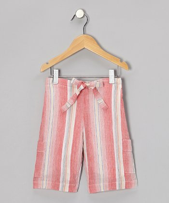 Red Surf Shorts - Toddler & Girls