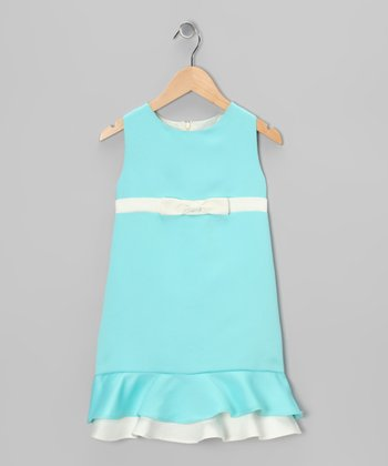 Aqua & Cream Dana Dress - Toddler & Girls