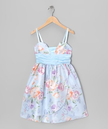 Powder Blue Pamela Dress - Girls