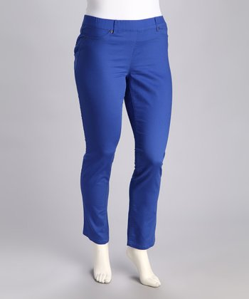 Marine Blue Pull-On Pants - Plus