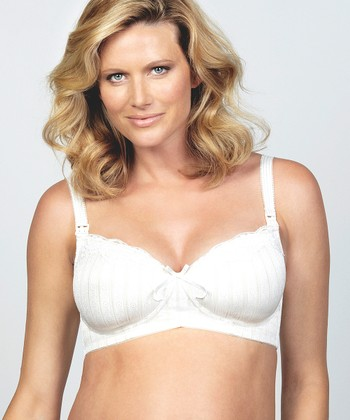 White Meringue Wireless Full-Fit Maternity & Nursing Bra - Women