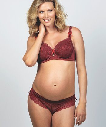 Plum Pudding Maternity Thong - Women