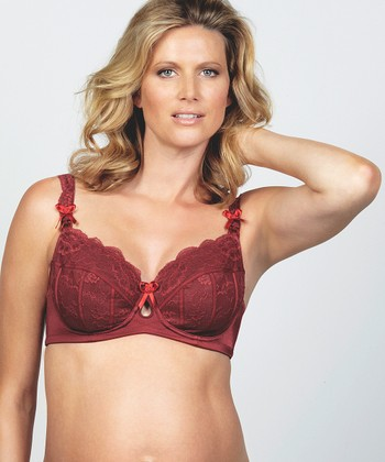 Plum Pudding Flex Underwire Maternity & Nursing Bra - Women