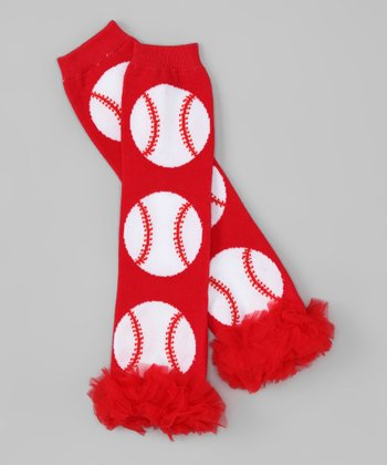 Red Baseball Leg Warmers