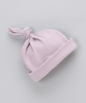 Lavender Organic Single Knot Beanie