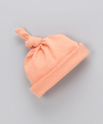 Coral Organic Single Knot Beanie