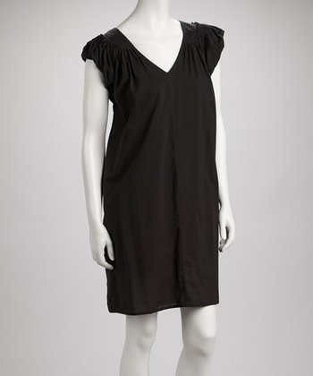 Black Ravon Shift Dress