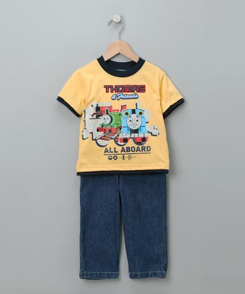Yellow Thomas Tee & Jeans