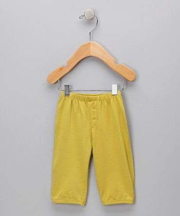 Yellow Organic Pants - Infant