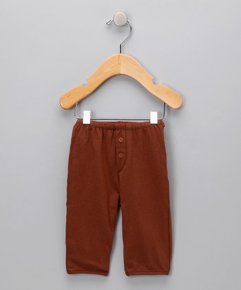 Wood Button Organic Pants - Infant