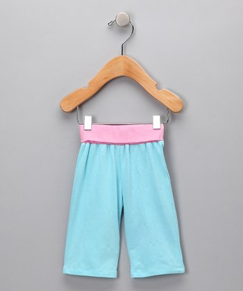 Blue & Pink Tulip Organic Pants - Infant