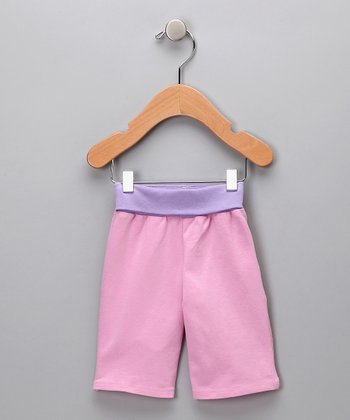 Pink & Purple Tulip Organic Pants - Infant