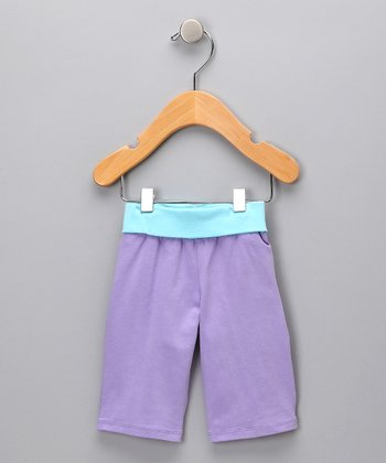 Purple & Blue Tulip Organic Pants - Infant