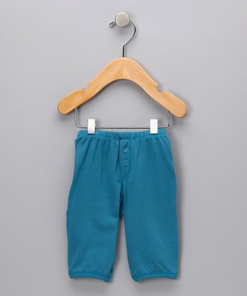 Teal Organic Pants - Infant