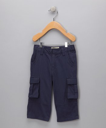 Navy Organic Cargo Pants - Infant & Kids
