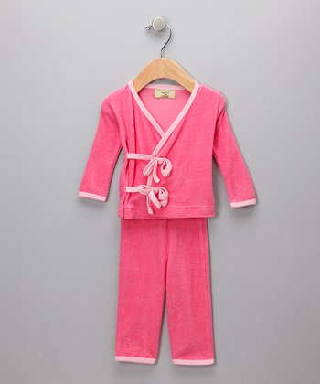 Pink Organic Wrap Top & Pants - Infant