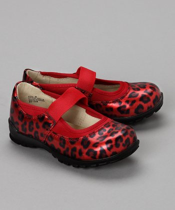 Red Leopard Print Mary Jane - Toddler & Girls