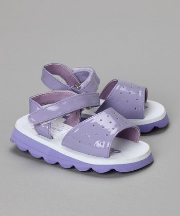 Lilac Patent Cut-Out Sandal - Toddler & Girls
