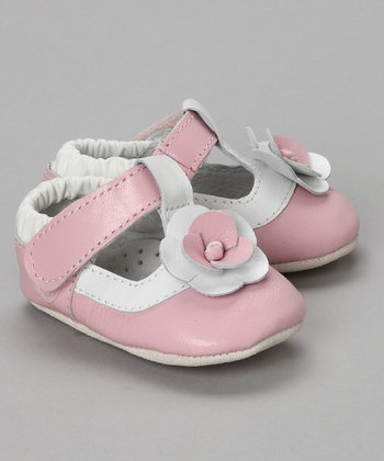 Pink & White T-Strap Shoe - Infant & Toddler