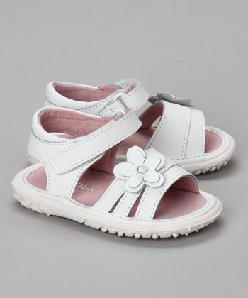 White Flower Sandal - Toddler & Girls