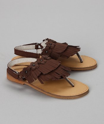 Brown Fringe Sandal