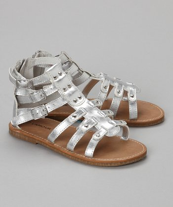 Silver Gladiator Sandal - Toddler & Girls