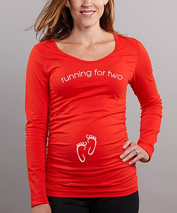 Caliente 'Running for Two' Maternity Tee