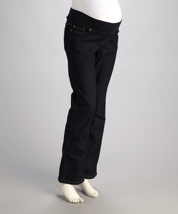 Mom & Co. Dark Wash Under-Belly Maternity Jeans - Women