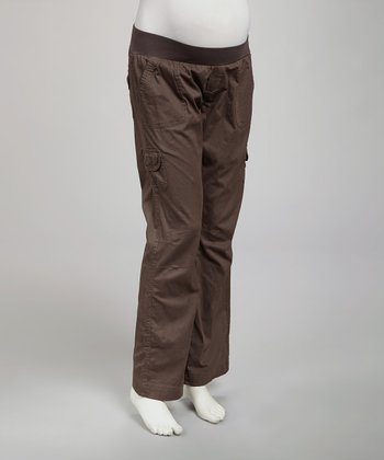 Charcoal Maternity Under-Belly Cargo Pants - Women